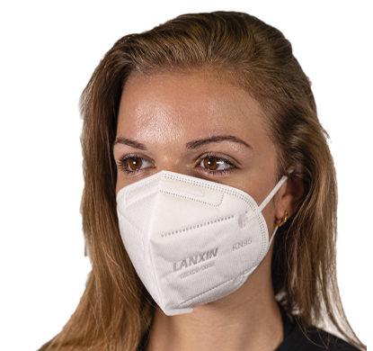 mascherina indossata kn95