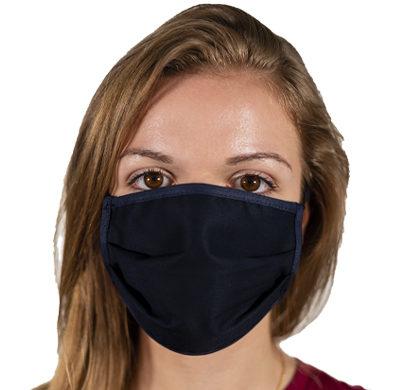 Mascherina protettiva in tessuto blu