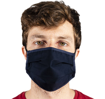 Mascherina protettiva in tessuto color blu