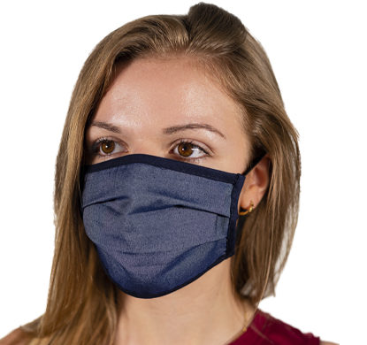 Mascherina antivirus protettiva color blu jeans