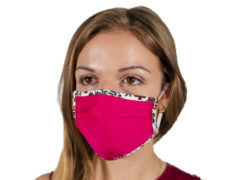 Mascherina antivirus in tessuto da donna color fucsia