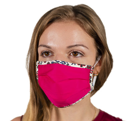 Mascherina antivirus in tessuto da donna color fucsia