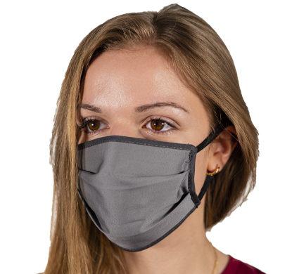 Mascherina antvirus in tessuto grigia da donna