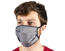Mascherina protettiva in tessuto grigia