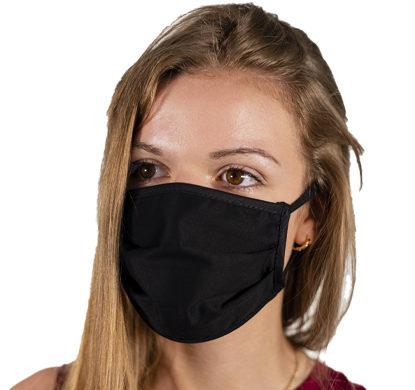 Mascherina protettiva in tessuto nera