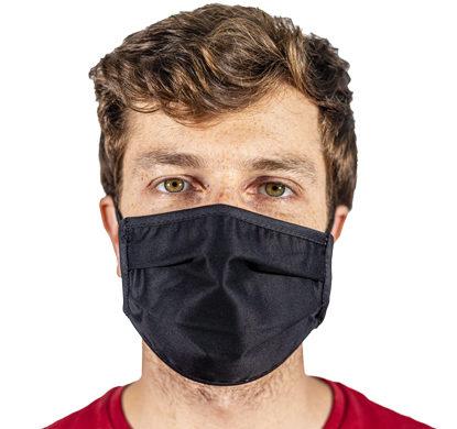 Mascherina antivirus in tessuto nera