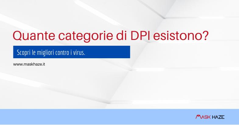 Ecco quante categorie di DPI esistono