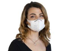 mascherina KN95 comoda e facile da indossare