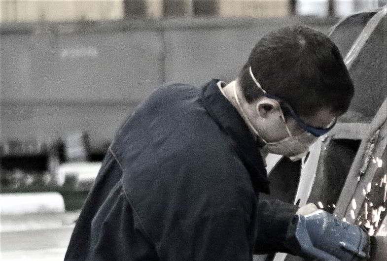 Mascherine antipolvere per edilizia per proteggere l'operatore.