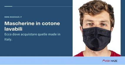 dove acquistare le mascherine in cotone lavabili